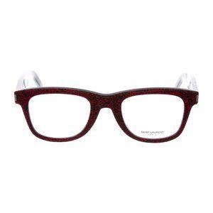 SAINT LAURENT Red Glitter Eyeglasses